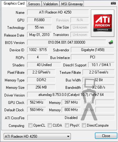 ATI HD 4250