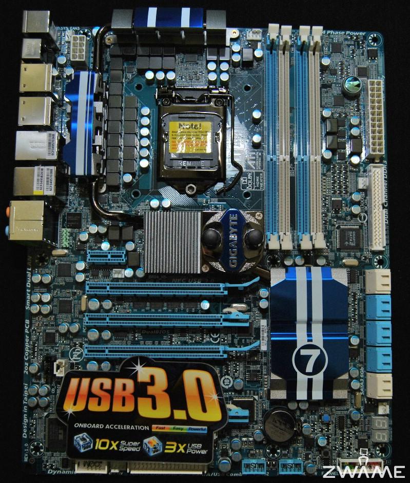 Photo of Análise Gigabyte P55A-UD7, SATA3/USB3