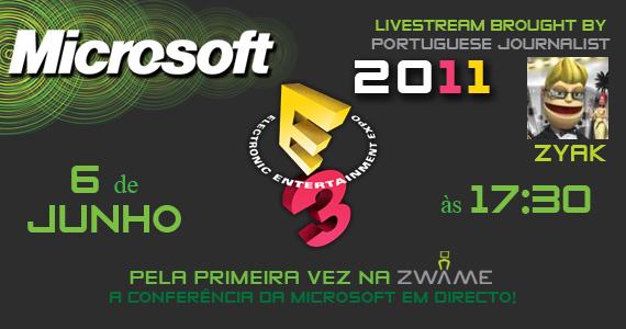 Photo of E3 2011: Conferência da Microsoft em directo na ZWAME