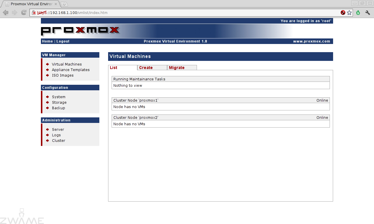 Proxmox VE: Cluster KVM/OpenVZ/DRBD sem Storage externa