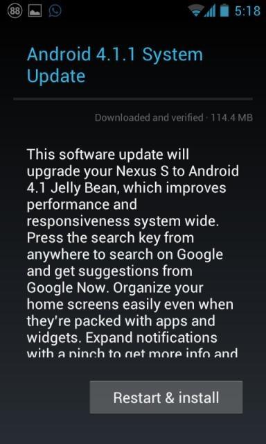 Photo of Atualização para Android 4.1.1 Jelly Bean via OTA, disponível para algumas variantes do Google Nexus S