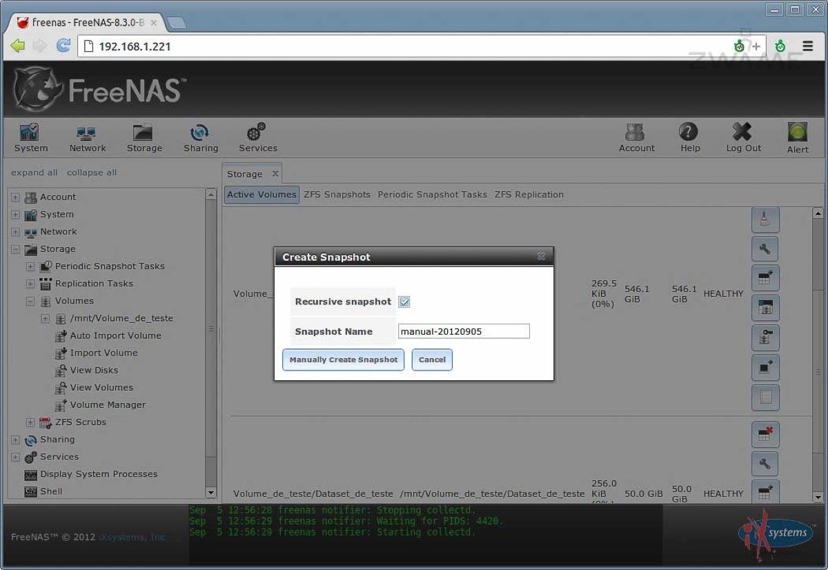 FreeNAS 8 3: Uma NAS simples de usar – Página 3 – ZWAME Portal