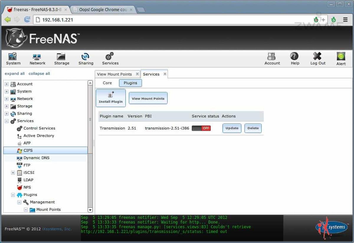 FreeNAS 8 3: Uma NAS simples de usar – Página 4 – ZWAME Portal