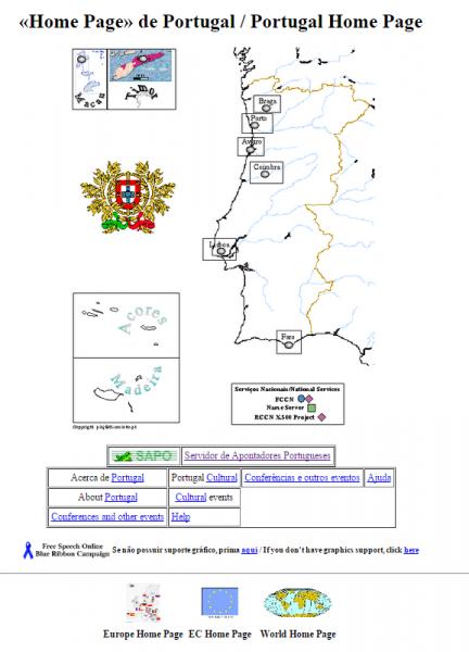 Primeira Página Web Portuguesa