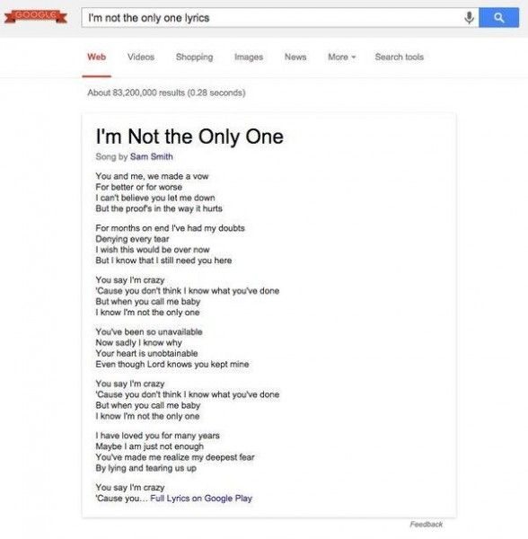 google-lyrics